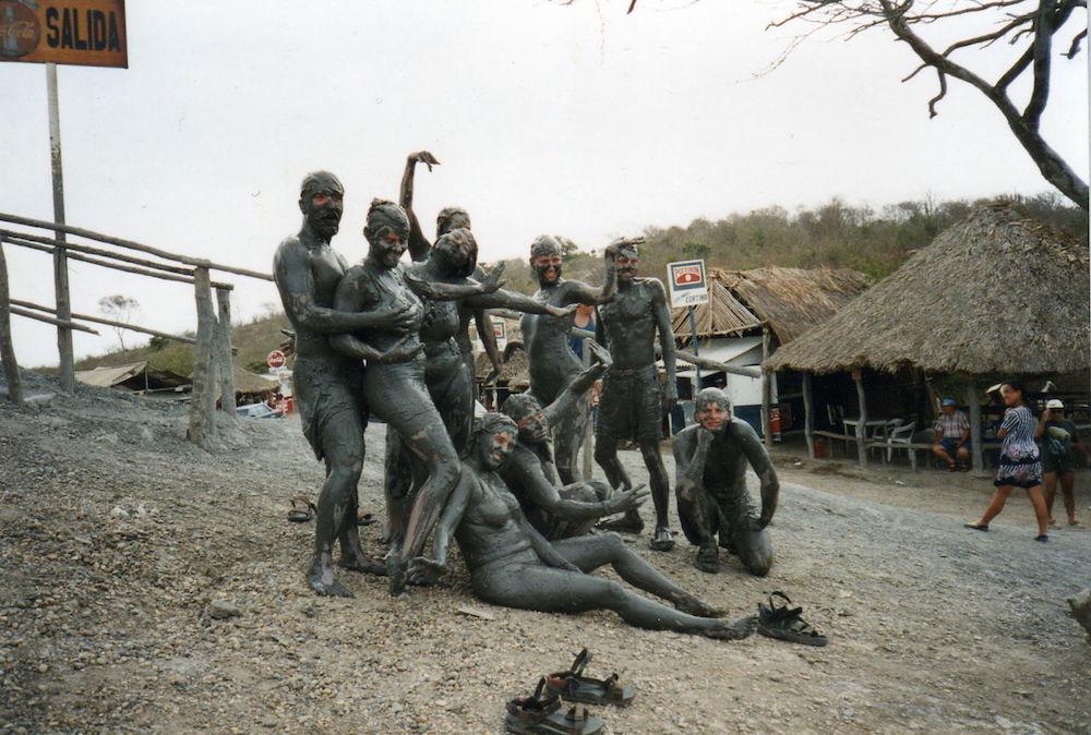 voyage a cartagena, bain de boue