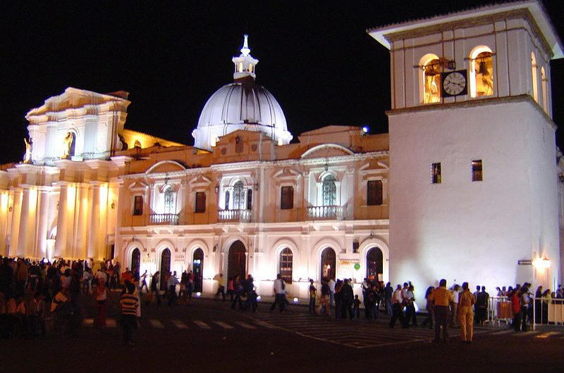 Cathedrale, tour de l'horolodge, Popayan