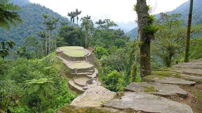 paysage de la colombie, cite perdue